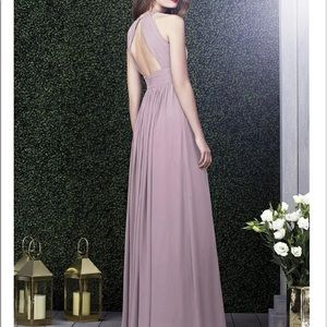 Dessy style 2918 dress in suede rose